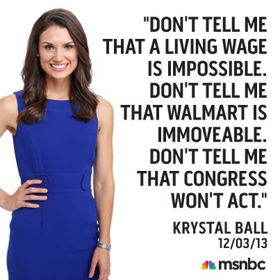 Krystal Ball had the floor and discussed her trip to Virginia over Thanksgiving weekend where she spoke with Walmart workers protesting for a higher minimum wage.