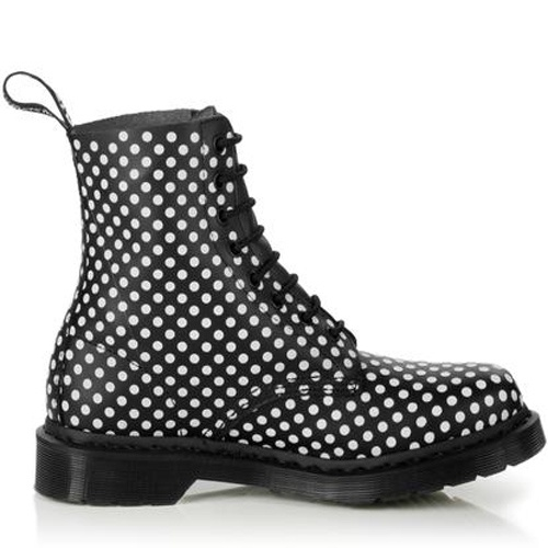 Dr. Martens boots 1460 Black And White Pascal On Sale