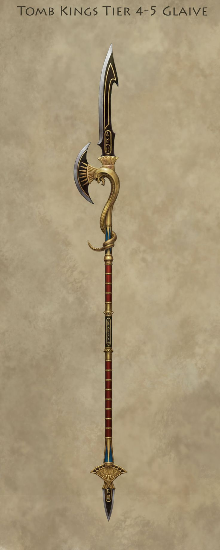 ArtStation - Tomb King Glaive, Sven Bybee