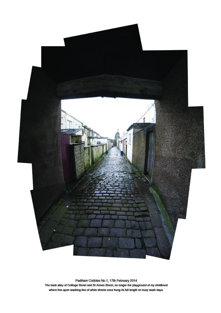 Cobbled back street, Padiham, Lancashire