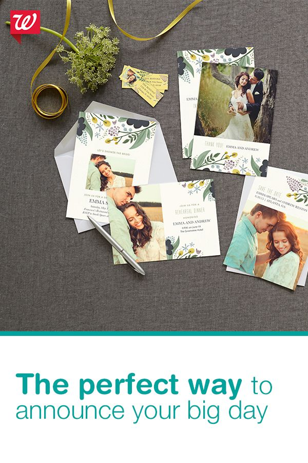 Getting hitched? Add your best couples photo and create a beautiful Save the Date that won't break the bank at Walgreens.com/Photo.