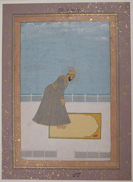 Portrait of Prince Muhammad Buland Akhtar (known as Nur Achhe Sahib) at Prayer Artist: Painting by Hujraj Object Name: Illustrated single work Date: 17th century Geography: India