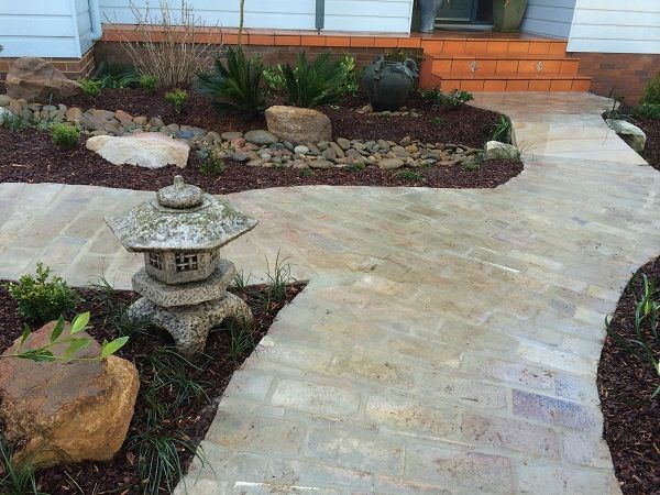 oriental garden design sydney asian garden path pathway brick paving sydney japanese style garden design ideas landscaping
