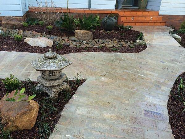 oriental garden design sydney asian garden path pathway brick paving sydney japanese style garden design ideas landscaping