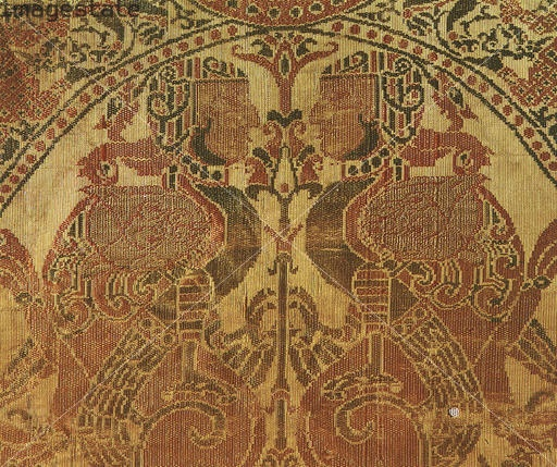 Compound silk cloth, Islamic, from al-Andalus (Andalusia), Spain, c1100. Artist: Werner Forman: