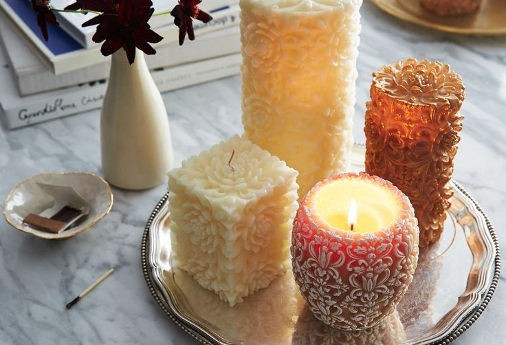 Hand-Carved Candles : Volcanica