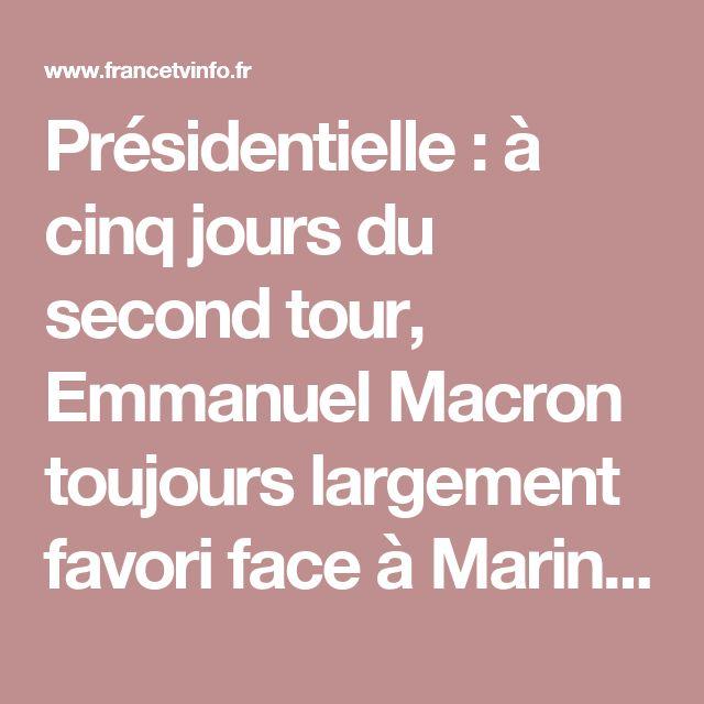 Présidentielle : à cinq jours du second tour, Emmanuel Macron toujours largement favori face à Marine Le Pen, selon notre sondage Ipsos / Sopra Steria