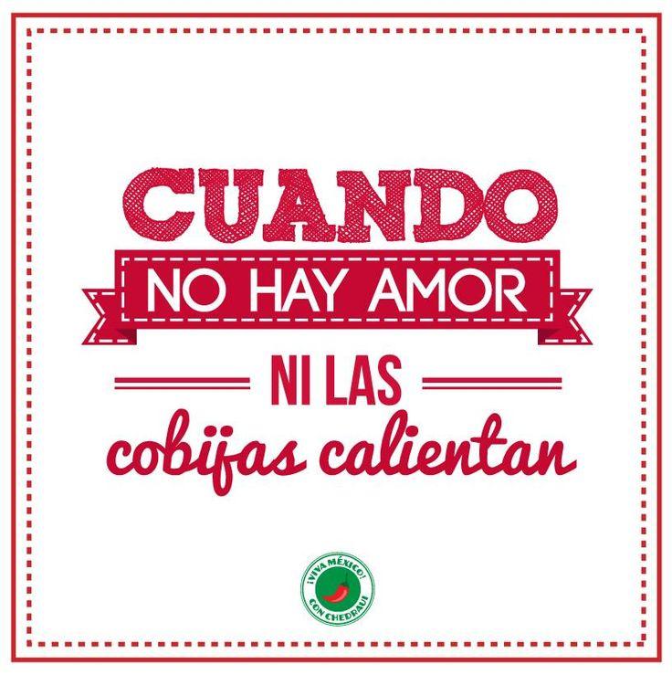 Cuando no hay Amor ni las cobijas calientan...
