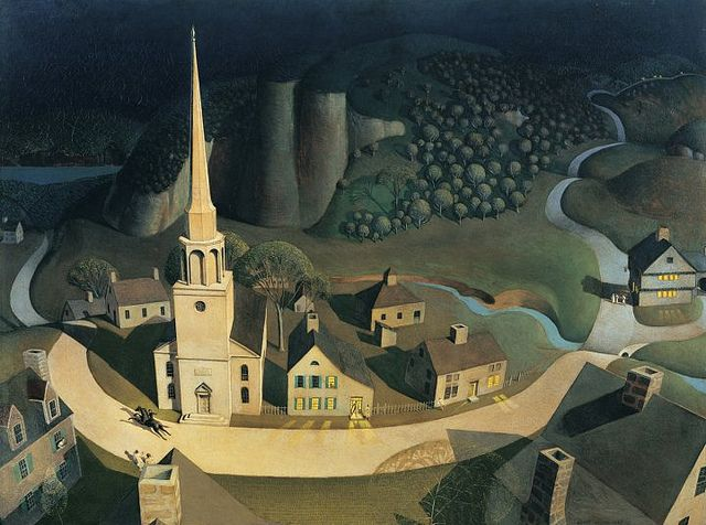 Grant Wood, The Midnight Ride of Paul Revere, 1931 by kraftgenie, via Flickr