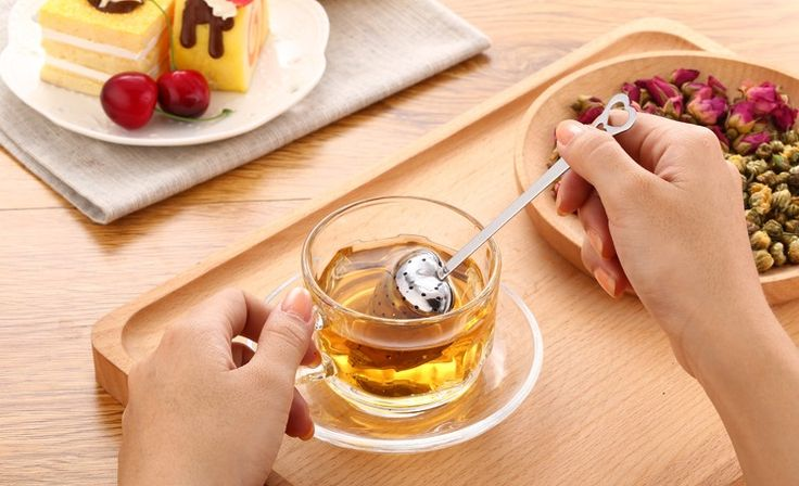 2pcs Heart Creative cute Stainless steel pipe tea strainer Mesh Tea Infuser filter ball teapot teabag coffee drinkware tools
