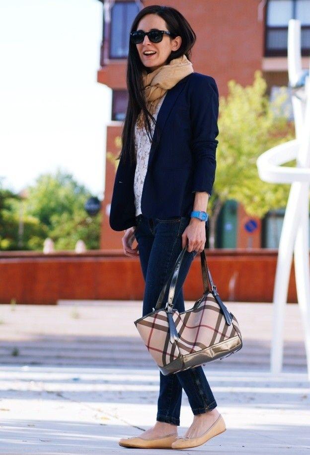 17 Best Ideas About Saco Azul Marino On Pinterest | Bolso Azul Marino Combinaciones Con Azul ...