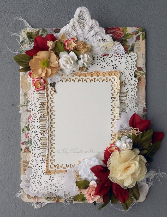 Clipboard to altered picture frame.