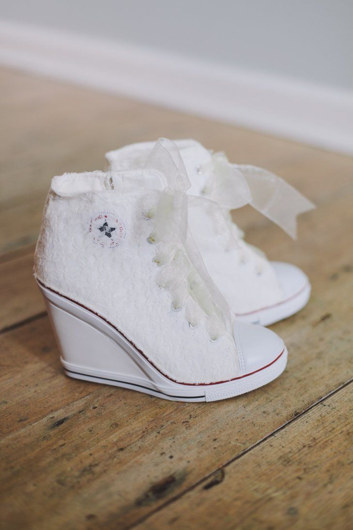 Are you a chucks fan? Why not try this white bridal sneakers?