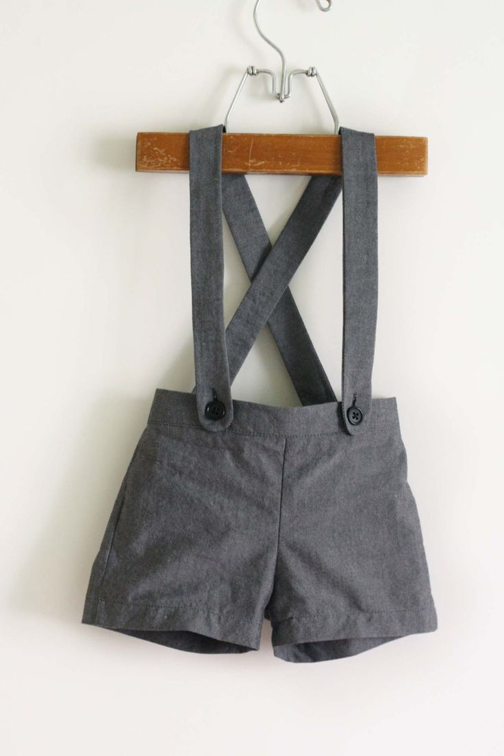 Spruce Suspender Shorts: PDF sewing pattern for vintage style baby shorts