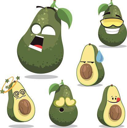 Avocado Cartoon Set A