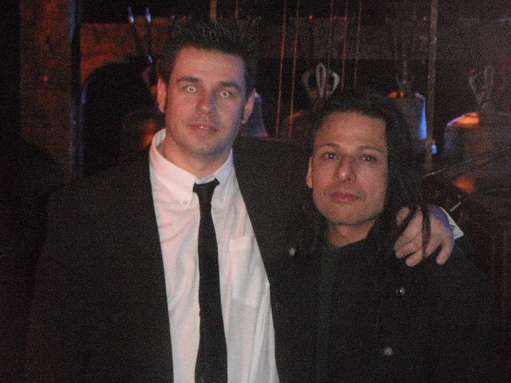 with Olivier Tarabo - frontman of Rosa Crux - Anderlecht (Belgium) - 16 january 2013