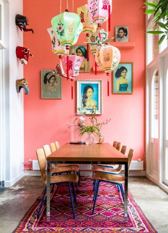81 best home decor pink dining room ideas images on for Pink dining room ideas
