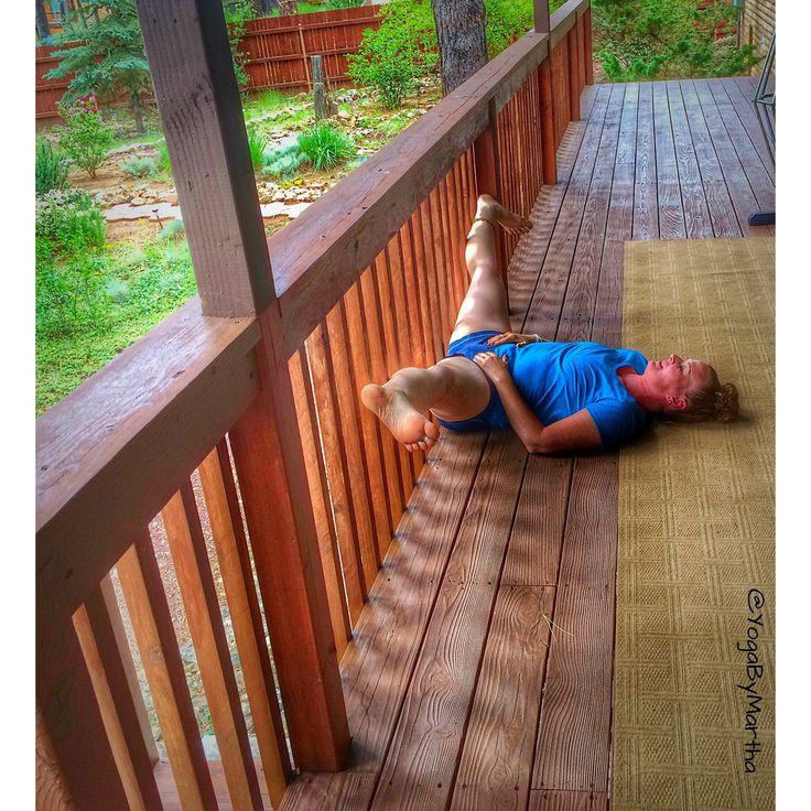 Yoga Pose Reclining Straddle Pose