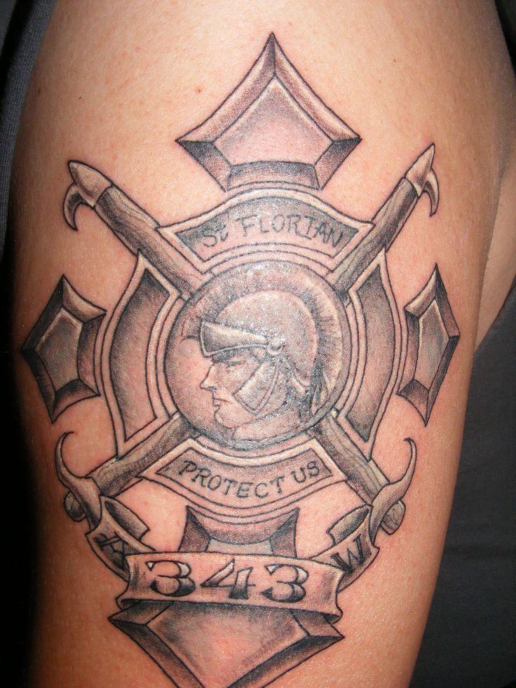 343 St. Florian memorial tattoo - My Firefighter Nation