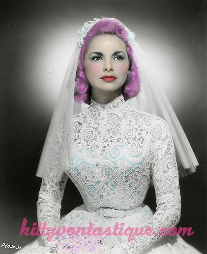 Janet Leigh as an Alt bride. Can you spot her something blue? :P Photoshop by me - kittyvontastique.com