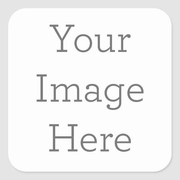 Create Your Own Square Sticker Zazzle Com In 2021 Create Yourself Sticker Template Paper Coaster