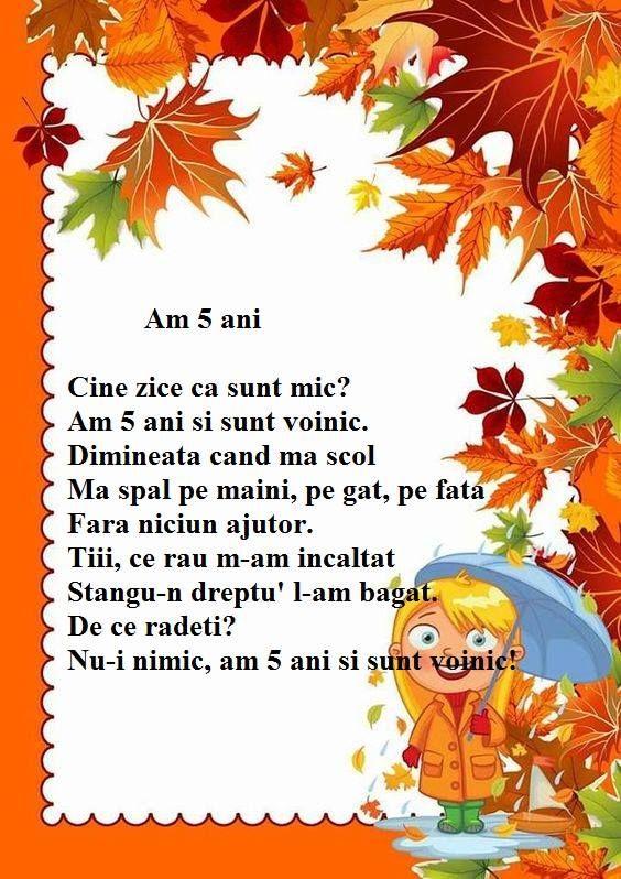 Poezie - Am 5 ani