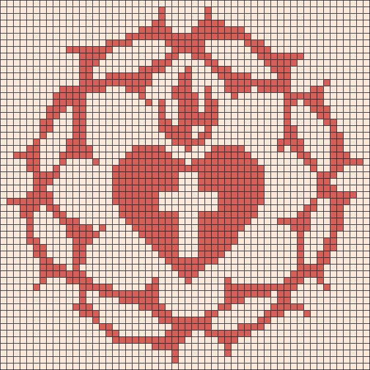 Alpha Pattern #11597 Preview added by MeganNoble  Sacred heart