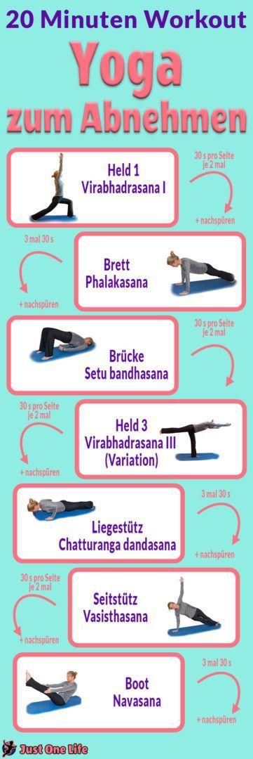 Yoga zum Abnehmen - Anleitung zum 20-Minuten-Programm, mit dem du effektiv abnehmen kannst.
