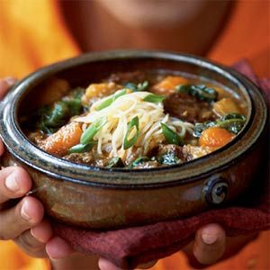 Chinese Hot Pot of Beef and Vegetables   MyRecipes.com #MyPlate #protein #vegetable