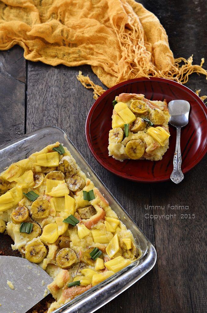 Simply Cooking and Baking...: Puding Roti Pisang Nangka