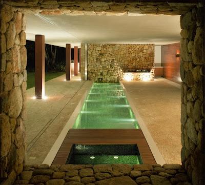 espacio abierto y natural dentro de la casa