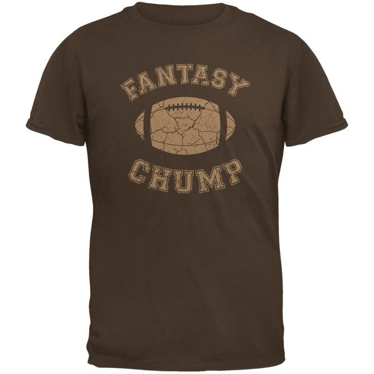 Fantasy Football Distressed Chump Brown Adult T-Shirt