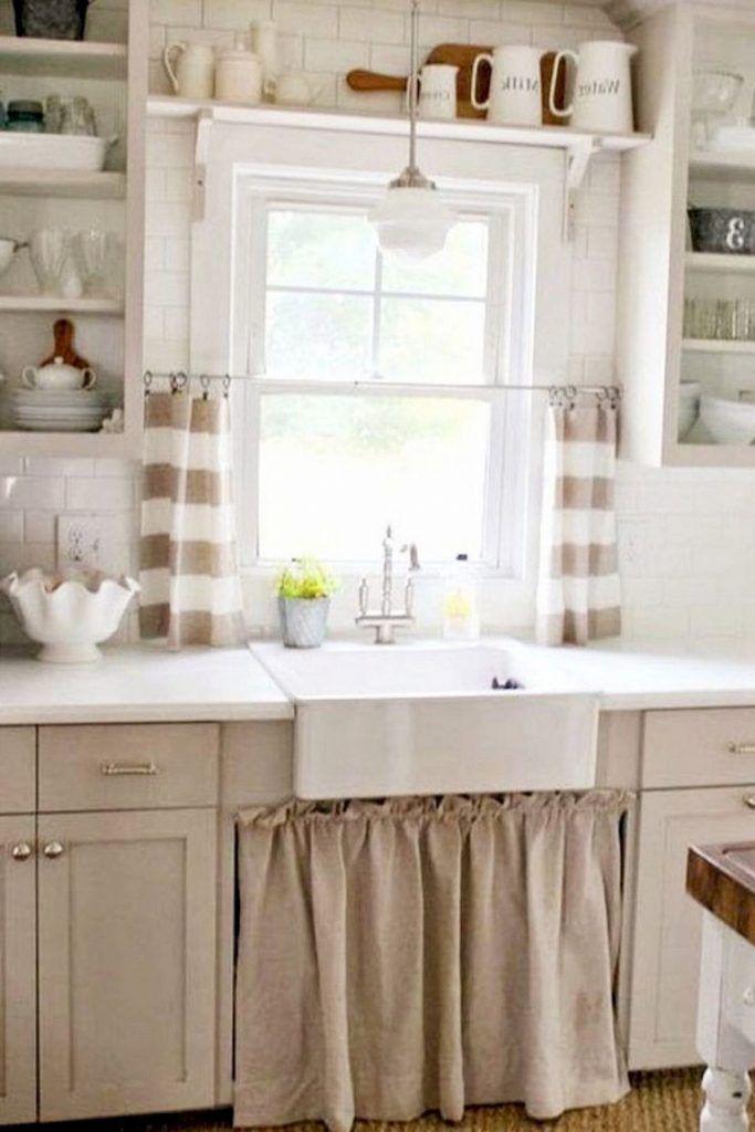 70 Beautiful Farmhouse Kitchen Curtains Decor Ideas Page 11 Of