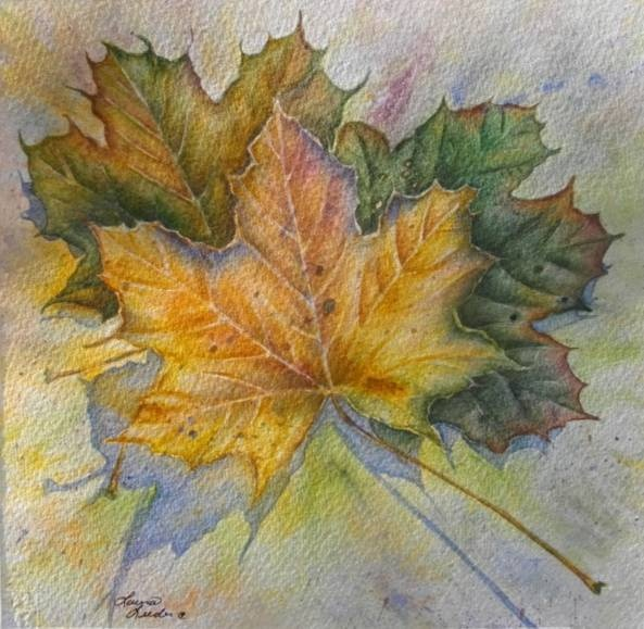 leaf painting techniques - photo #7