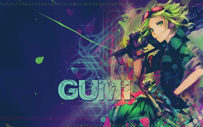 Download wallpapers Gumi, 4k, anime characters, manga, Vocaloid
