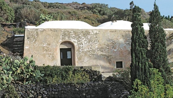 An exterior of the Pantelleria home, which is a native dwelling called a…