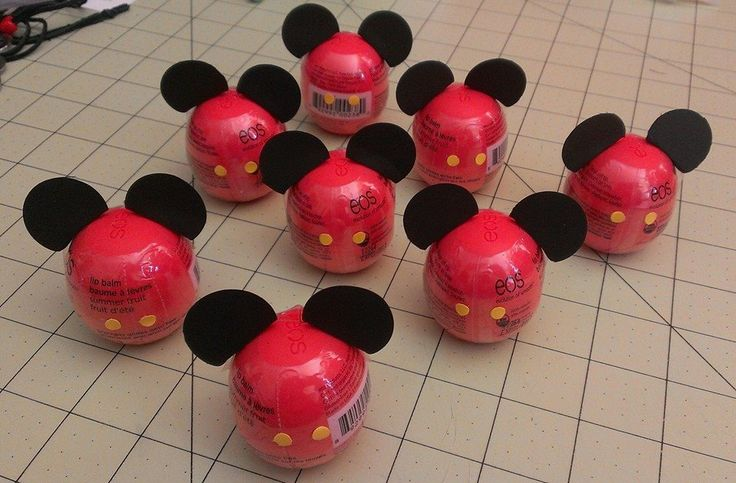 """Mickey Mouse EOS for Fish Extender gift - add 1"""" black circles for ears and hole punch yellow circles for buttons."""