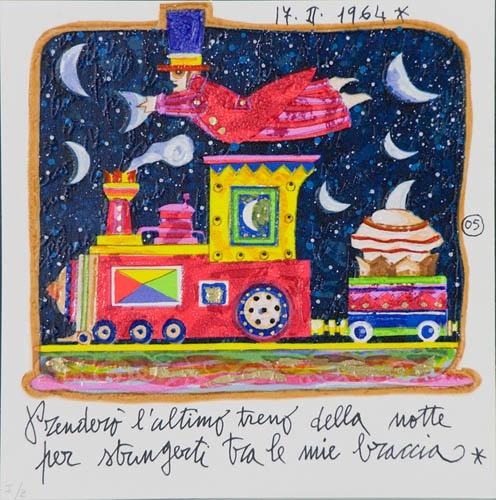 """""""Prenderò l'ultimo treno della notte per stringerti tra le mie braccia"""". Francesco Musante, 1964"""