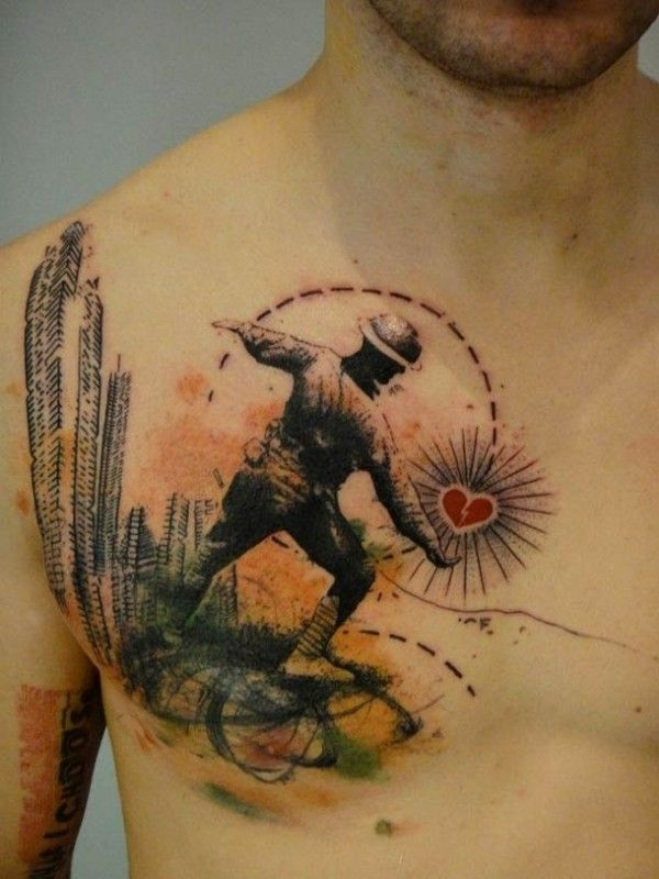 Tattoo by French Artist Xoil 8