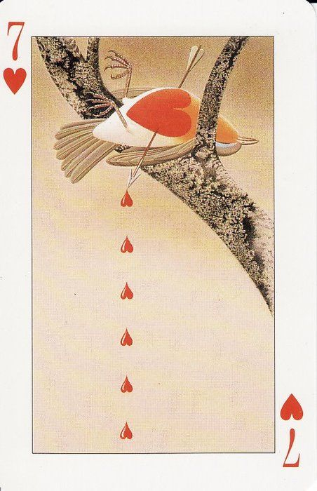 i would love a deck of cards like this. i mean its sad yeah..but its beautiful in its tragedy