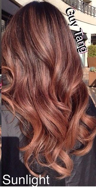 Rose gold highlights. Can't believe I've never seen this!? Wonder if it's achievable on my hair....