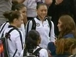 Kate Middleton meets the US Women's Gymnastics team (8-5-12)