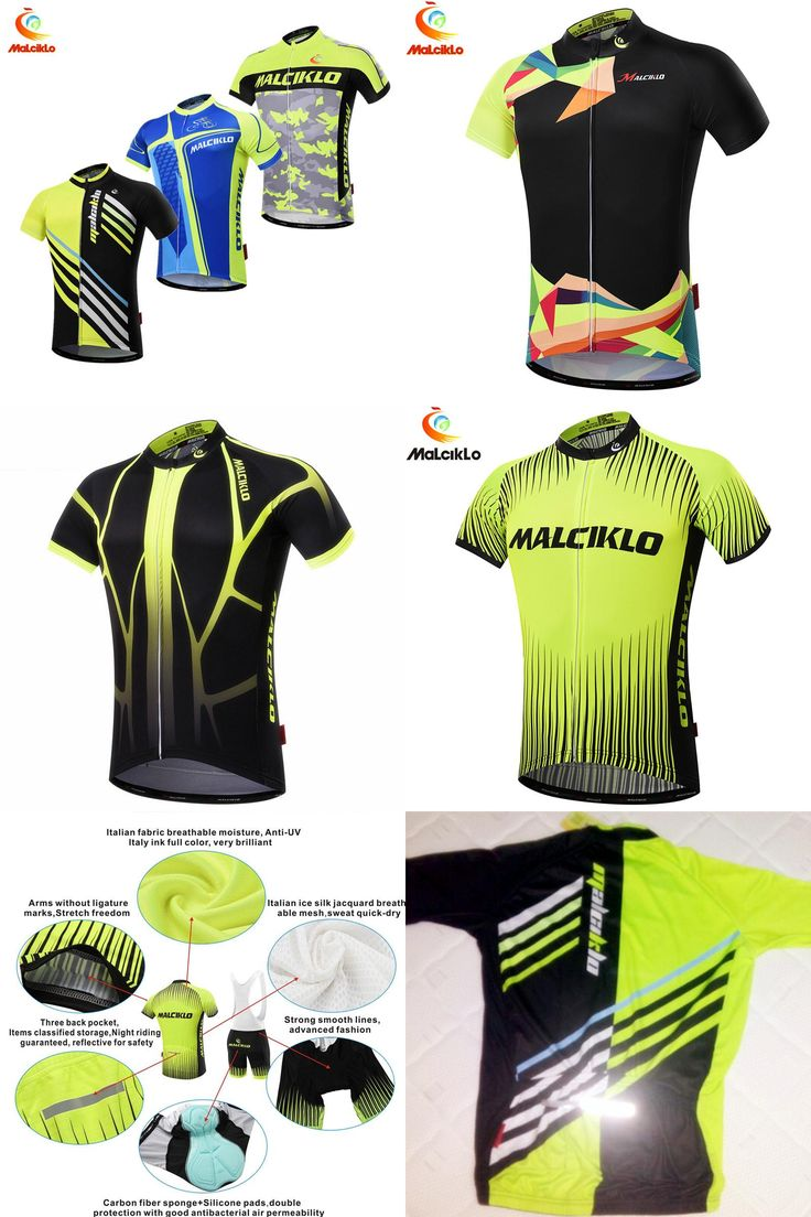 [Visit to Buy] 100% Polyester Summer Cycling T-shirt Ropa Ciclismo Men Short Sleeve Bike Clothing Quick-Dry Bicycle Maillot Cycling Fluo yellow #Advertisement