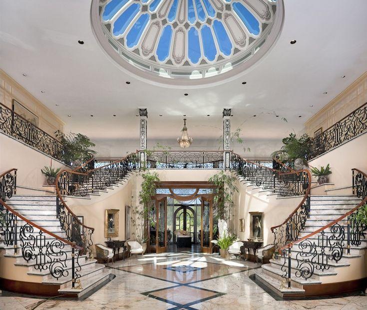 casas lujo escaleras gran escalera ideas escalera escalera de diseo grand entrance el estilo de vida de lujo soar casas