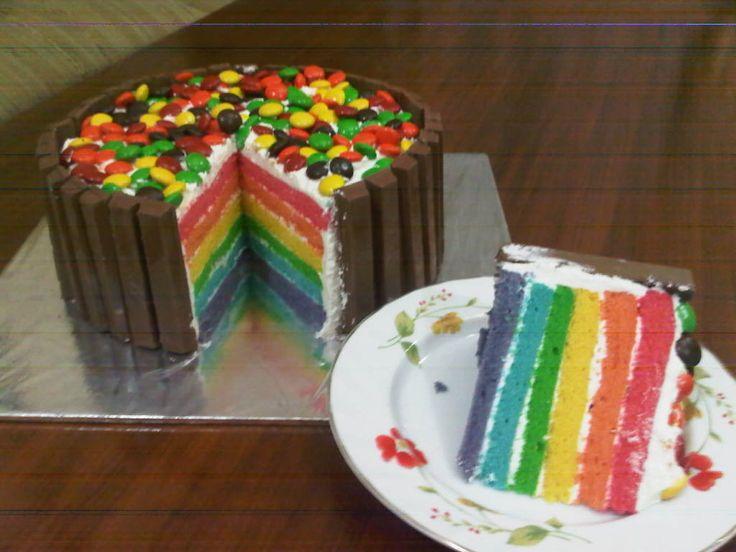 Regnbue/Kvikk Lunsj kake!