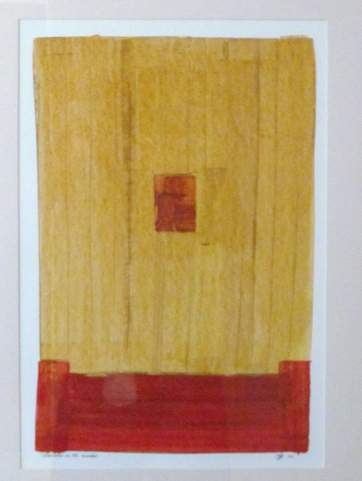 Paint scraper and oil on paper Framed For Sale 400 x 600mm