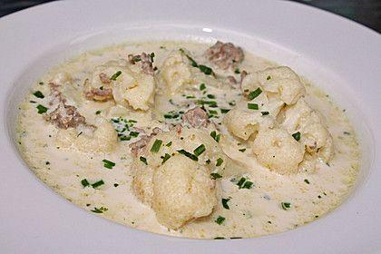 Blumenkohl-Käse Suppe nach Odinette, ein leckeres Rezept aus der Kategorie Gemüse. Bewertungen: 133. Durchschnitt: Ø 4,5.