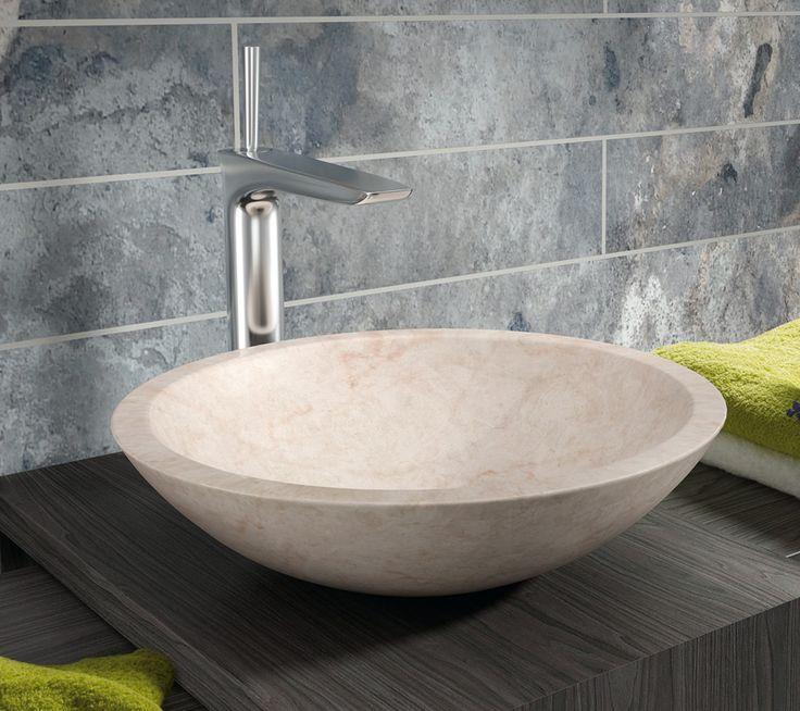 waschbecken rund stein. Black Bedroom Furniture Sets. Home Design Ideas