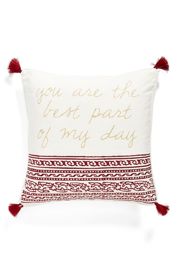 Levtex 39 roma you are the best part of my day 39 tasseled accent pillow master bedrooms sweet Master bedroom throw pillows
