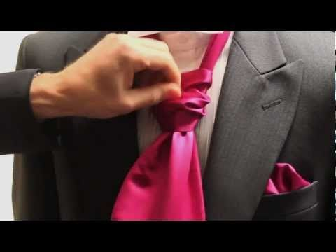 Simon of Simon James Formal Menswear Hire demonstrates how to tie a cravat. Grooms and ushers needn't panic on the day